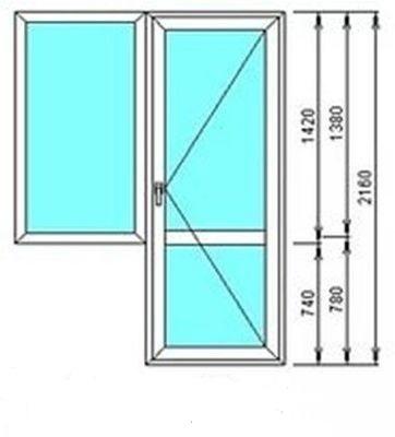 Стеклопакеты размеры балконы..